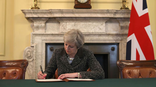 Theresa May triggered Article 50 today, officially starting Britains exit from Europe
