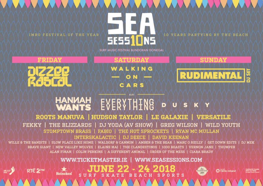 Sea Sessions 2018 line-up poster.