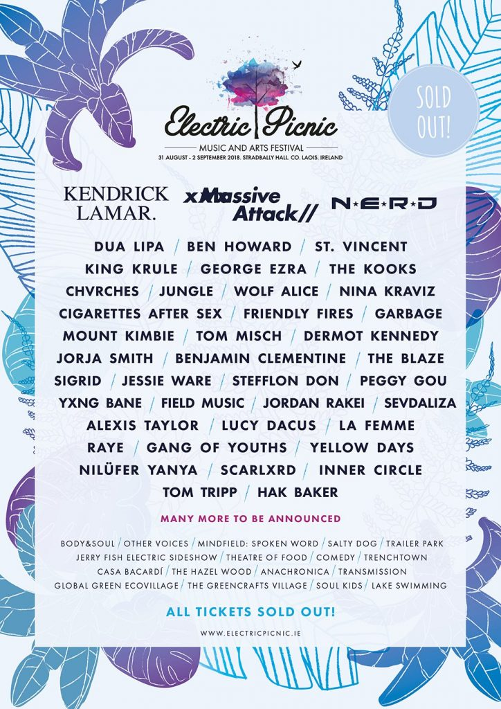 First wave of acts for Electric Picnic 2018.