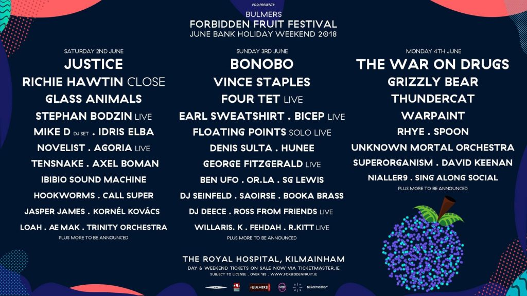 Forbidden Fruit Festival 2018 current line-up