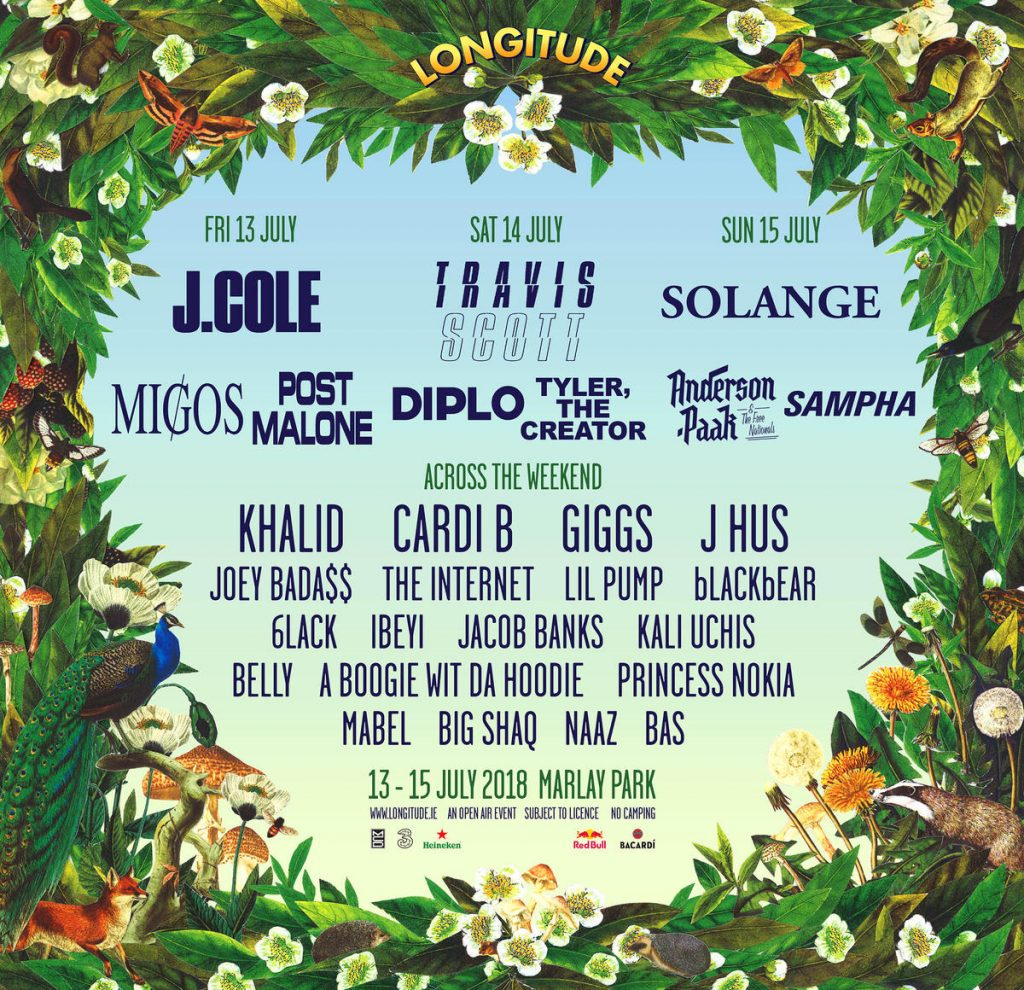 Longitude Festival first wave line-up 2018