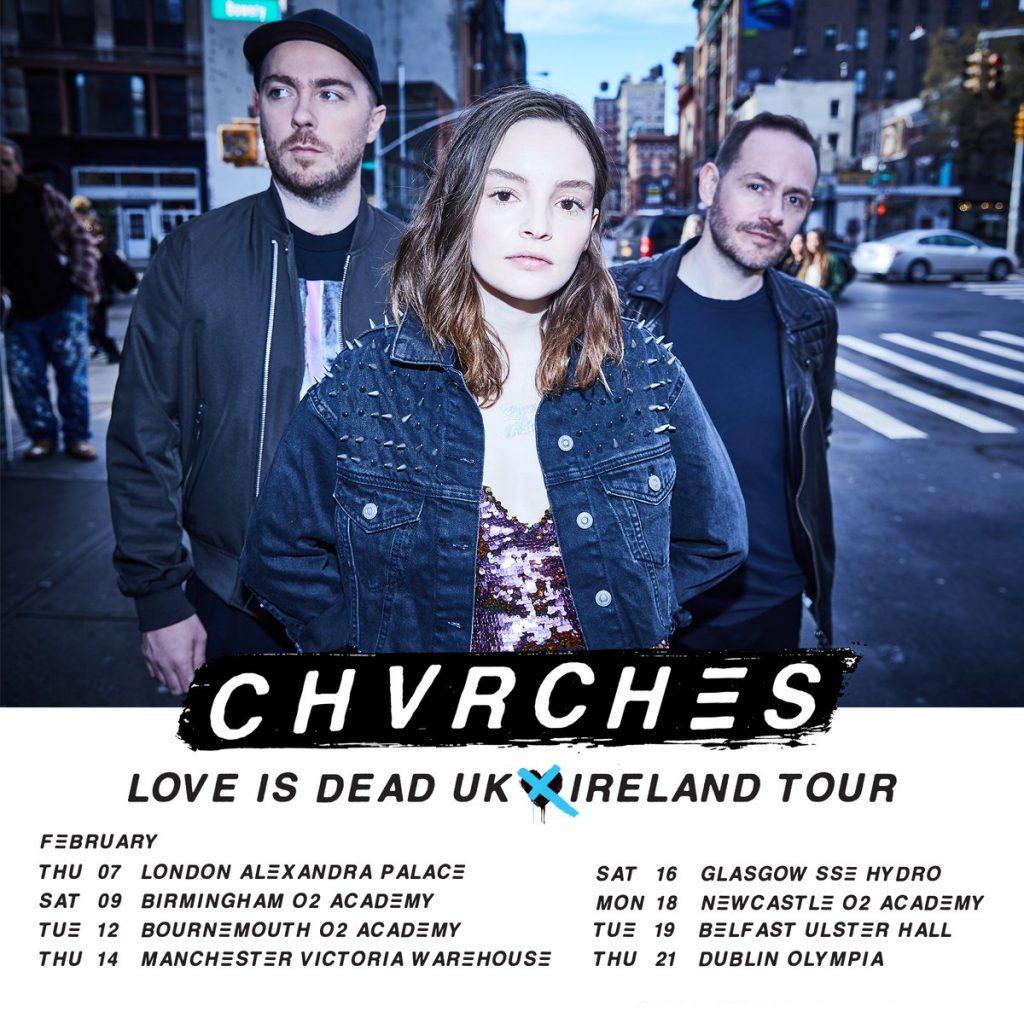 CHVRCHES 2019 UK & Ireland Tour