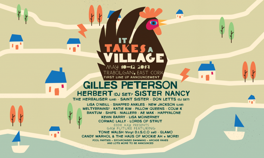 It Takes A Village first wave line up poster
