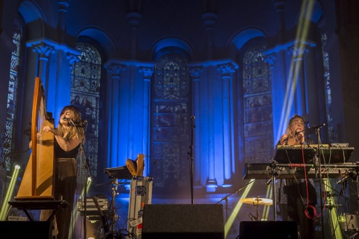 Saint Sister during a surreal performance at the breathtaking St Luke's. Photo taken by Jina Estrada.