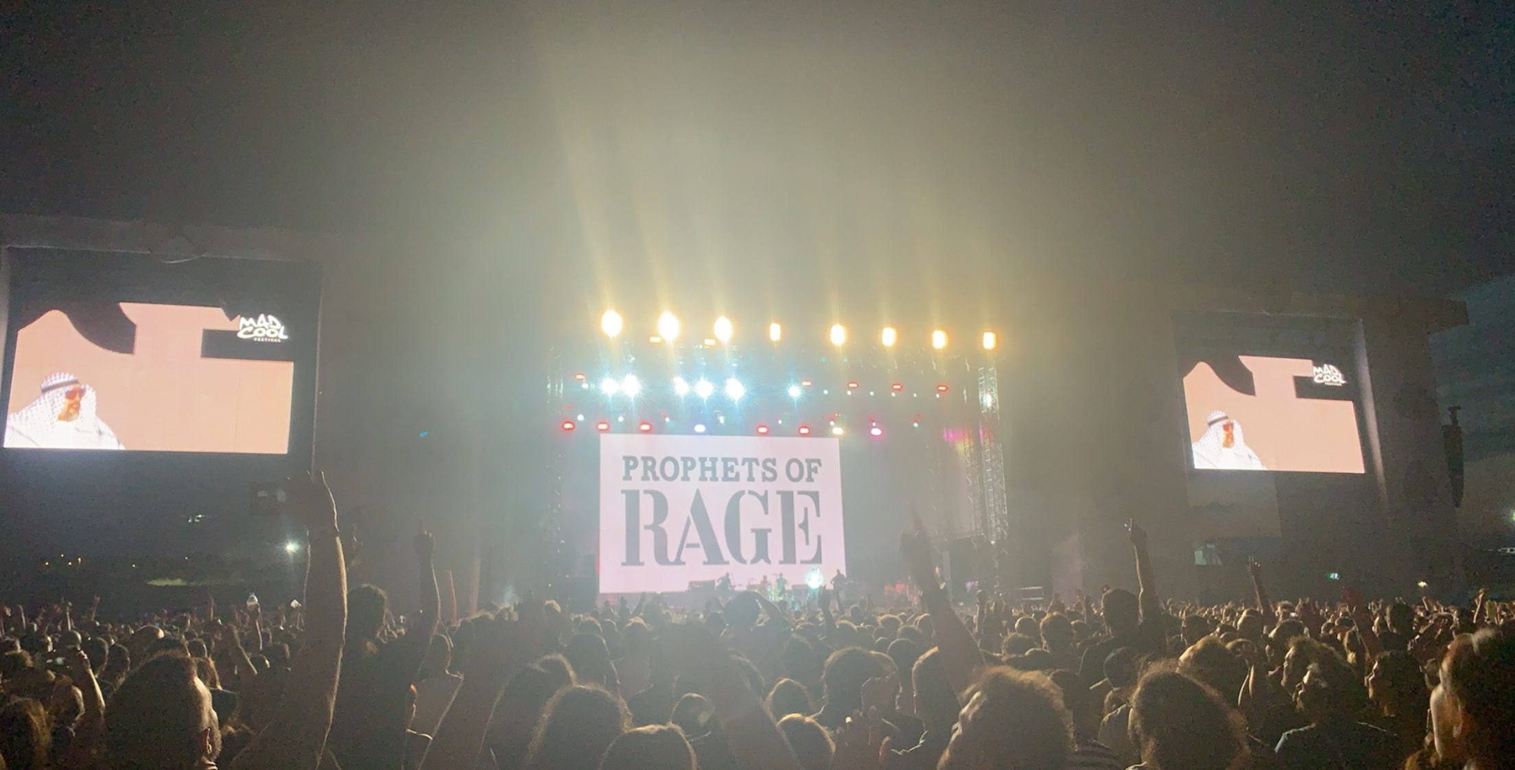 Prophets of Rage during an outrageous set at Mad Cool Festival.