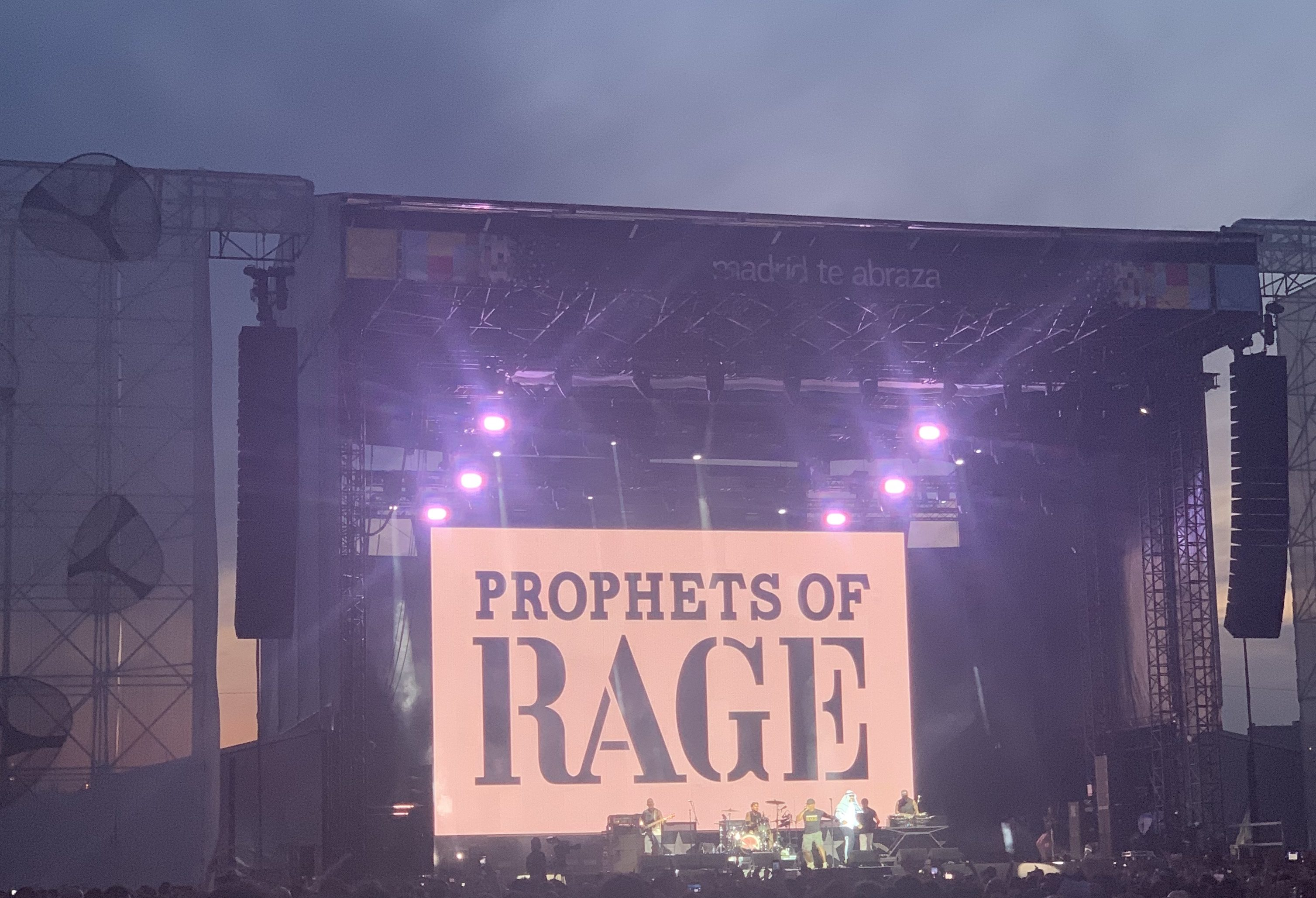 Prophets of Rage on the Madrid Te Abraza Stage.