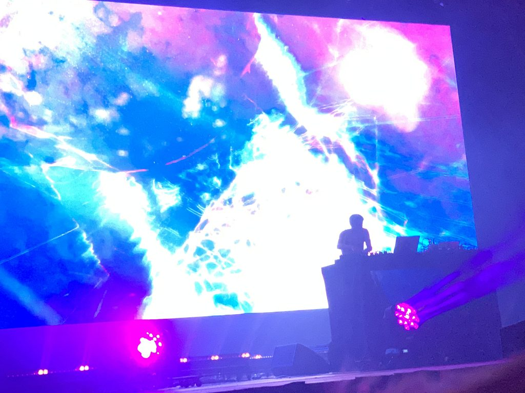 Jon Hopkins during a spellbinding performance at Mad Cool.