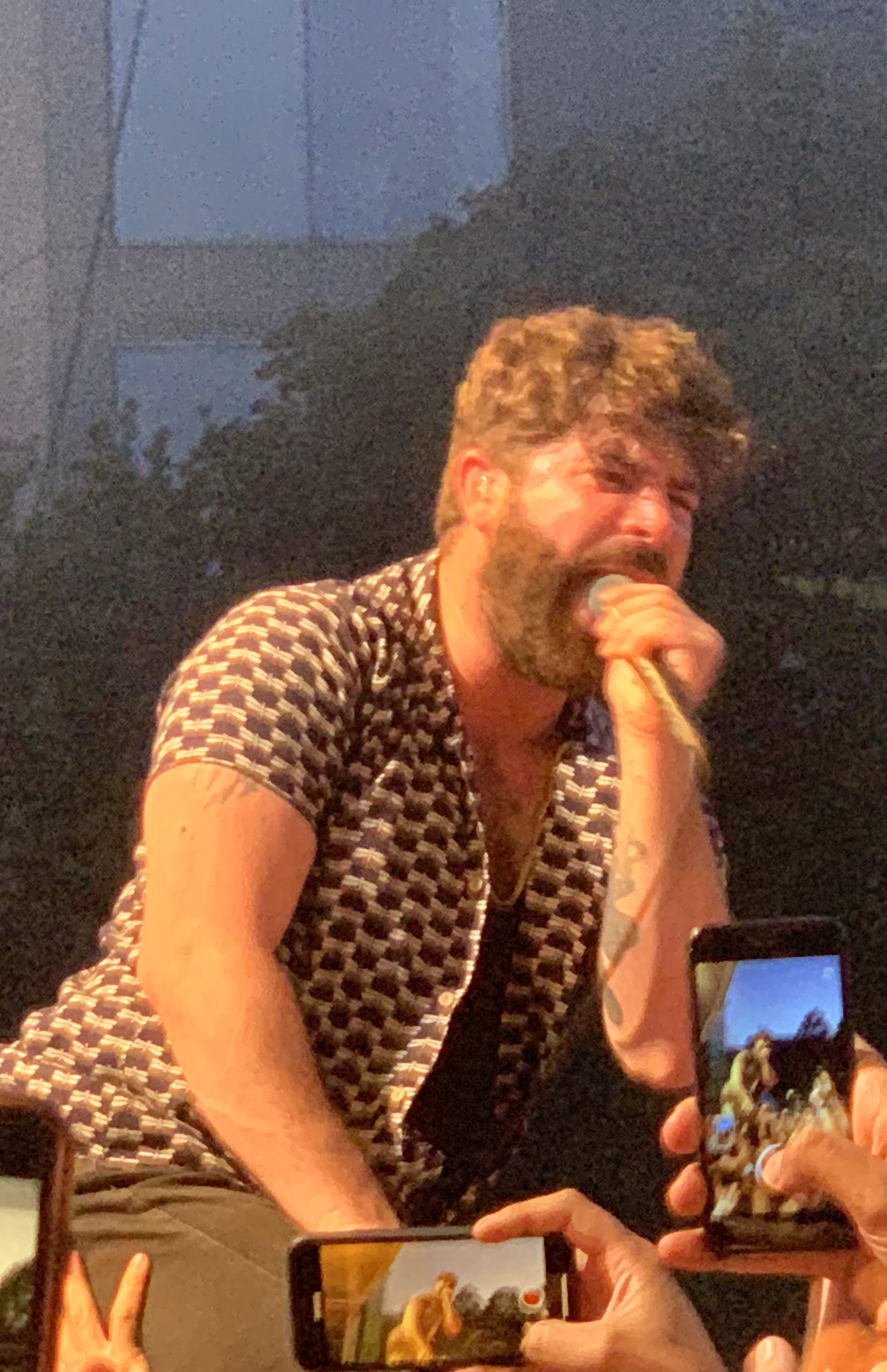 Frontman, Yannis Philippakis was a man possessed.