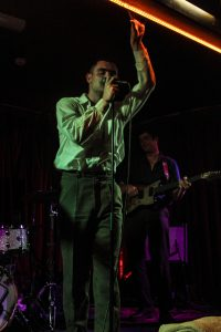 The Murder Capital frontman James McGovern, during the band's album launch show at Crane Lane. Photo by Leanne Gabriel.