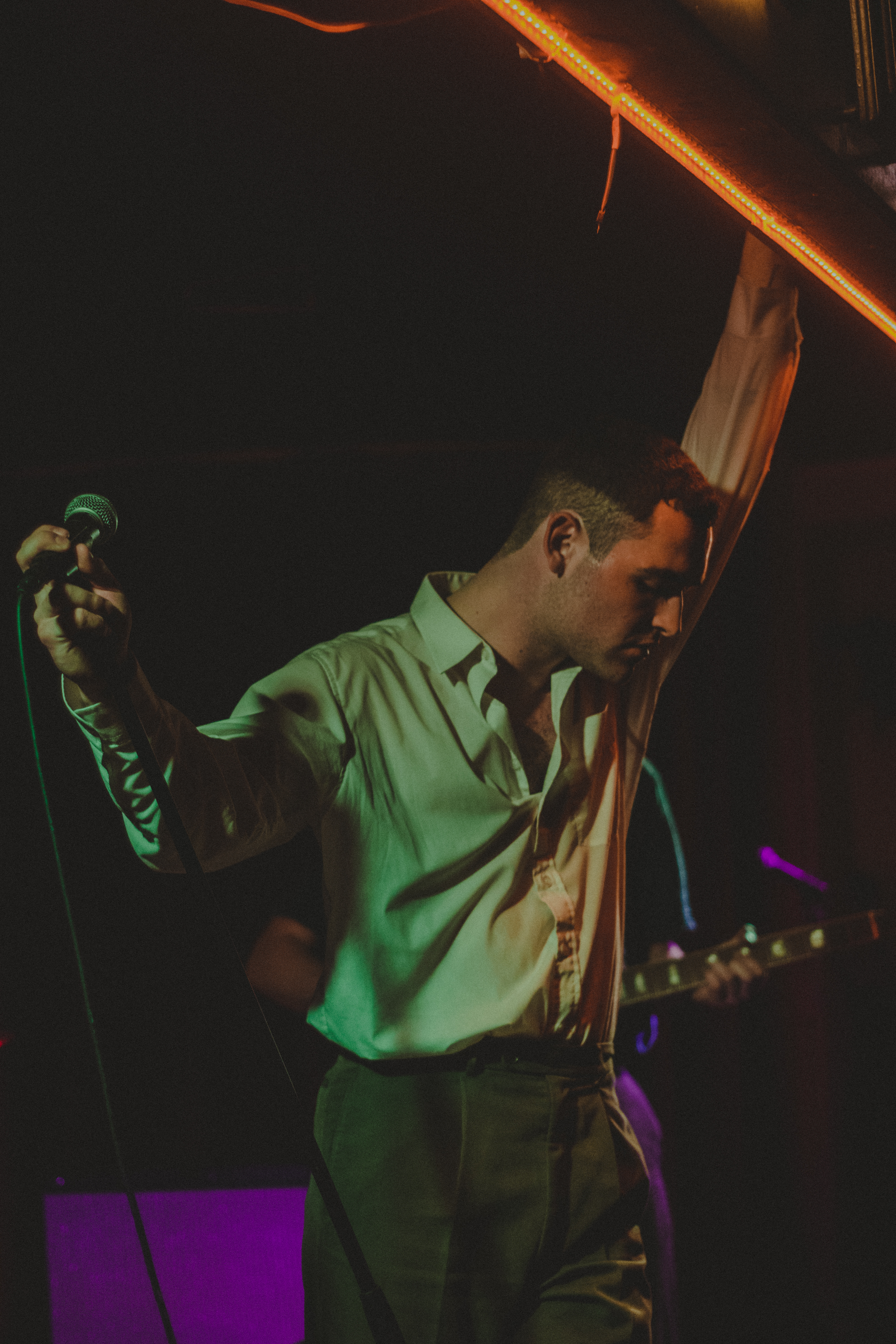The Murder Capital frontman James McGovern, during the band's album launch show at Crane Lane. Photo by Ryan O'Riordan.