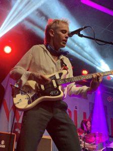 Guitarist Niall Burns during their return to Cork.