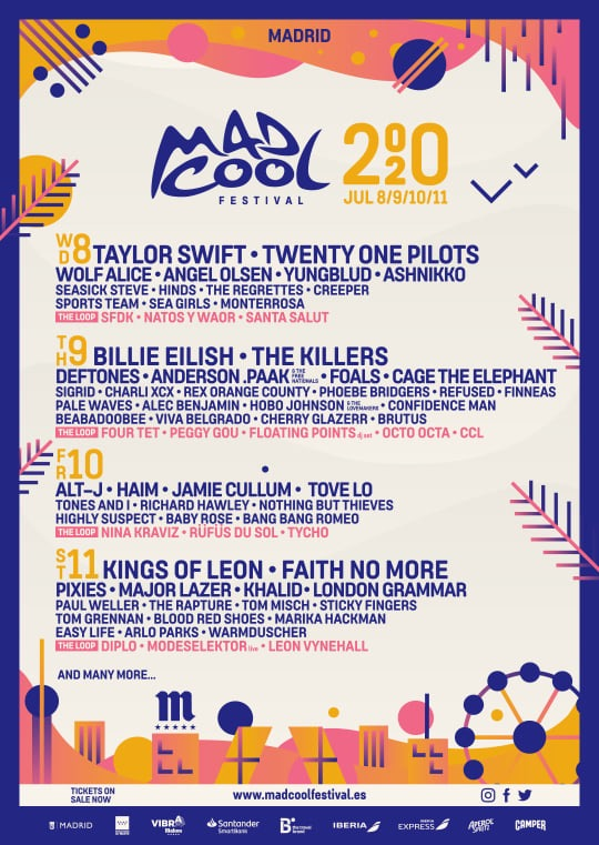 Mad Cool 2020 line up so far