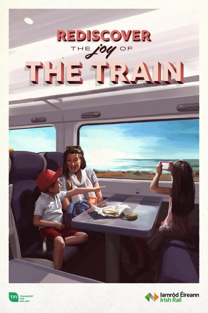 Irish Rail promotional poster