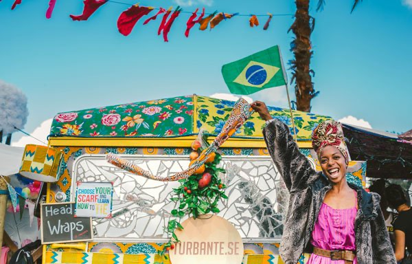 Brazilian Art Caravan in Electric Picnic's Trailer Park.